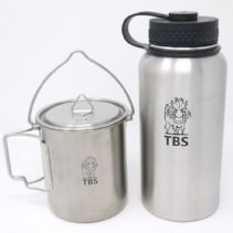 TBS Stainless Steel Water Bottle and Billy Can Cup